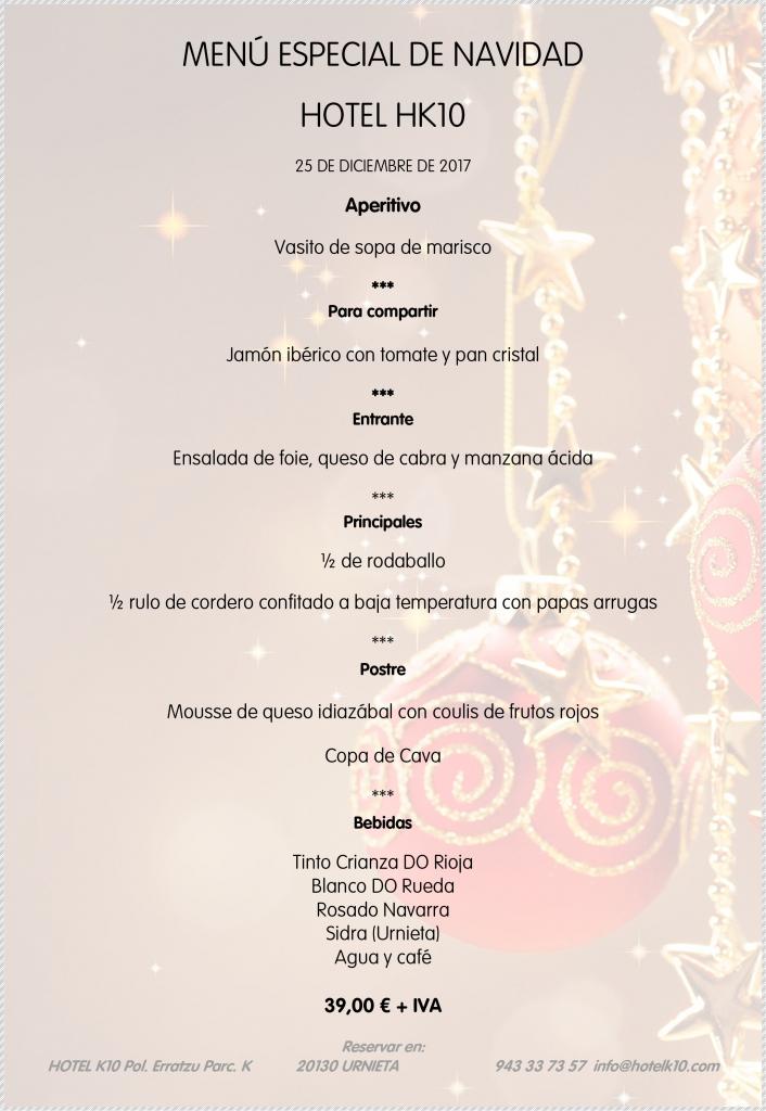 Menús de Navidad, Año Nuevo y Reyes en Urnieta, San Sebastián