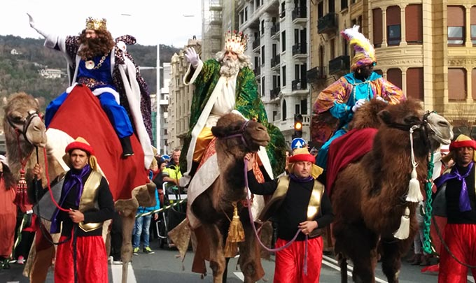 Cabalgata de Reyes en San Sebastián 2020